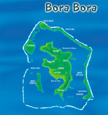 Bora Bora Sur Carte Du Monde | My blog